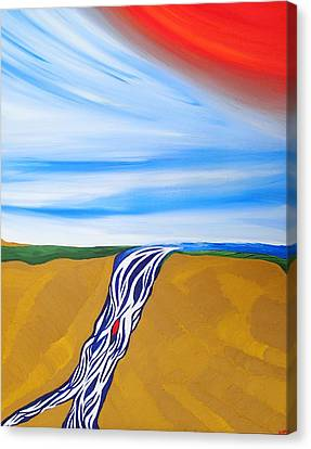 Waterfall Canvas Print by Robert Nickologianis