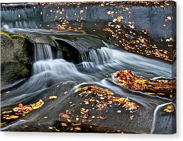 Falling Water Creek Canvas Print - Waterfall Simplicity by Frozen in Time Fine Art Photography