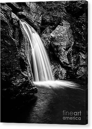 Bingham Falls Waterfall Stowe Vermont Open Edition Canvas Print by Edward Fielding