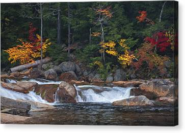 Waterfall - White Mountains - New Hampshire Canvas Print by Jean-Pierre Ducondi