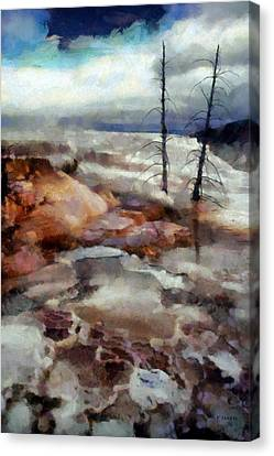 Waterfalls At Yellowstone Canvas Print