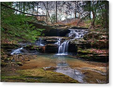 Waterfalls Cascading Canvas Print