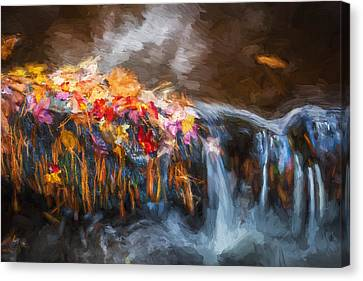 Waterfalls Childs National Park Painted  Canvas Print