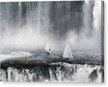 Waterfalls Edge Canvas Print