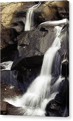 Waterfalls Canvas Print by Les Cunliffe