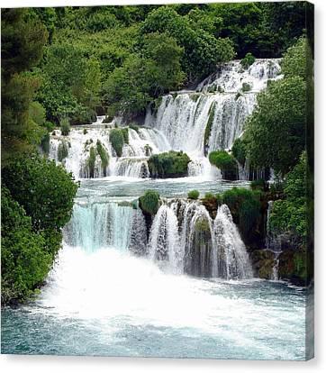 Waterfalls Of Plitvice Canvas Print