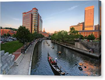 Waterfire At Dusk Canvas Print