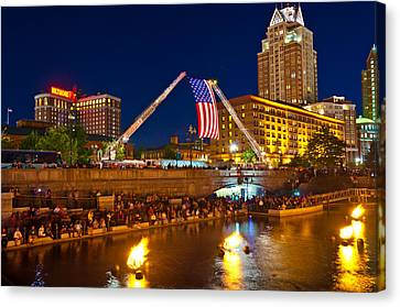 Waterfire Providence-9/11 Tribute Canvas Print