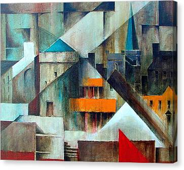 Waterford Abstraction Canvas Print by Val Byrne