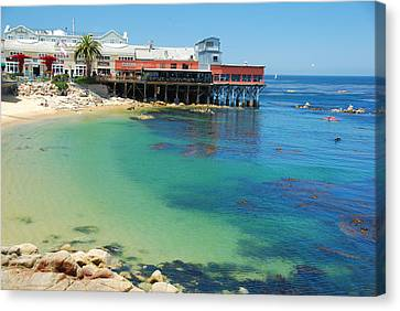 Waterfront At Cannery Row Canvas Print by Jonah  Anderson