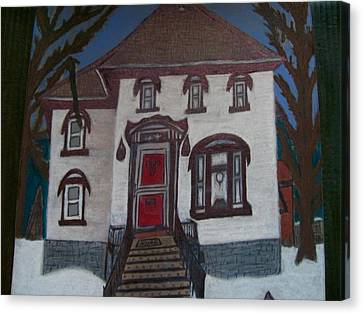Historic 7th Street Home In Menominee Canvas Print by Jonathon Hansen