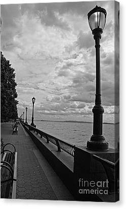 Waterfront In Battery Park New York  Canvas Print