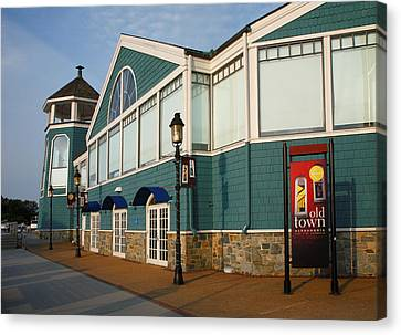 Waterfront Restaurant V Canvas Print by Steven Ainsworth
