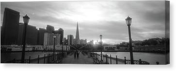 Waterfront San Francisco Ca Canvas Print by Panoramic Images