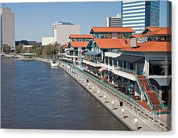 Waterfront Shopping And Dining Complex Canvas Print