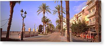 Waterfront Walkway, Sitges, Barcelona Canvas Print by Panoramic Images