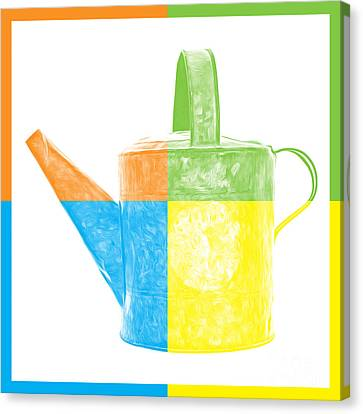 Watering Can Pop Art Canvas Print