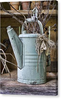 Watering Can Pot Canvas Print by Heather Applegate