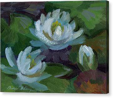 Waterlilies At Martha Lake 2 Canvas Print by Diane McClary