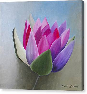 Waterlily Canvas Print by Carola Ann-Margret Forsberg