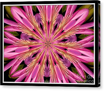 Canvas Print featuring the photograph Waterlily Flower Kaleidoscope 4 by Rose Santuci-Sofranko