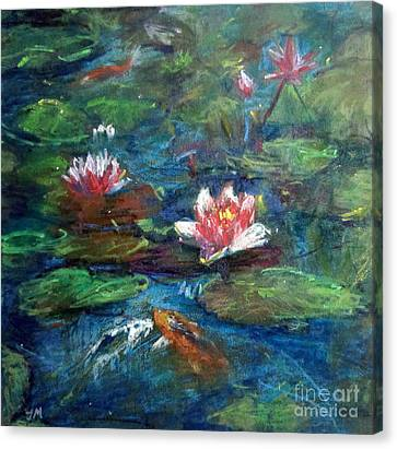 Waterlily In Water Canvas Print