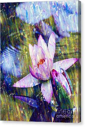 Purple Waterlily Paradise Canvas Print