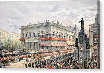 Waterloo Place And Pall Mall Canvas Print by English School