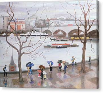 Waterloo Promenade Canvas Print by Terry Scales