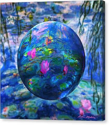Orb Canvas Print - Lilly Pond by Robin Moline