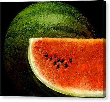 Watermelon Canvas Print by David Blank