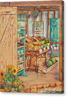 Watermelon Farm Stand Canvas Print