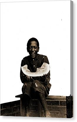 Watermelon Jake, African Americans, Children Canvas Print by Litz Collection