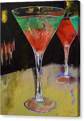 Watermelon Martini Canvas Print