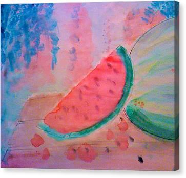 Watermelon Canvas Print by Ty Walsh Trez