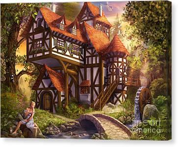 Watermill Canvas Print by Drazenka Kimpel