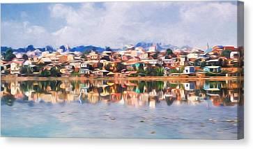 Impressionism Canvas Print - Dreamy Waterfront by Heidi Yanulis