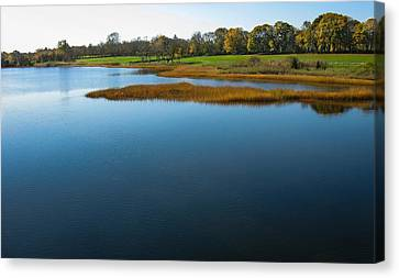 Canvas Print featuring the photograph Water's Memories by Glenn DiPaola