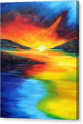 Canvas Print featuring the painting Waters Of Home by Meaghan Troup