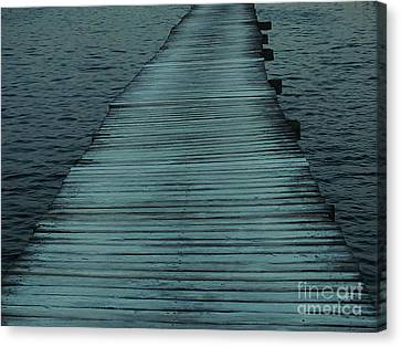 Water's Path Canvas Print by Joy Angeloff