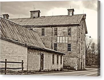 Waterside Woolen Mill Canvas Print by Steve Harrington