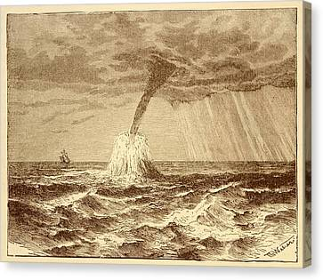 Waterspout At Sea. Canvas Print by David Parker