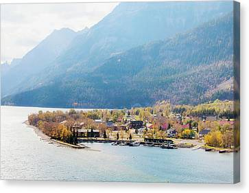 Waterton Lakes National Park Townsite Canvas Print by Roberta Murray