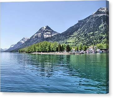Waterton Townsite Canvas Print by George Cousins