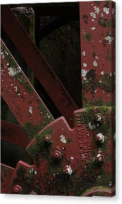 Canvas Print featuring the photograph Waterwheel Up Close by Daniel Reed