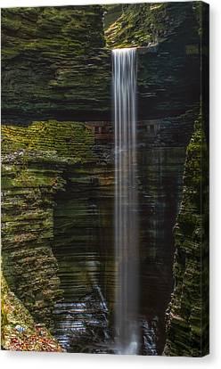 Watkins Glen Central Cascade Canvas Print