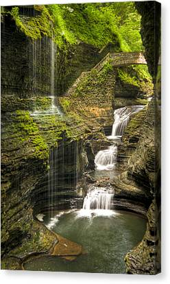 Watkins Glen Falls Canvas Print by Anthony Sacco