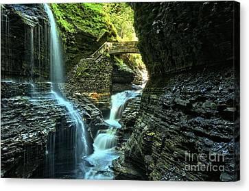 Watkins Glen Waterfalls Canvas Print by Adam Jewell