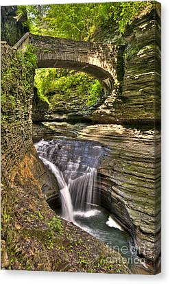 Watkins Glen Waterfalls Canvas Print by Anthony Sacco