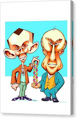 Watson And Crick Canvas Print by Gary Brown